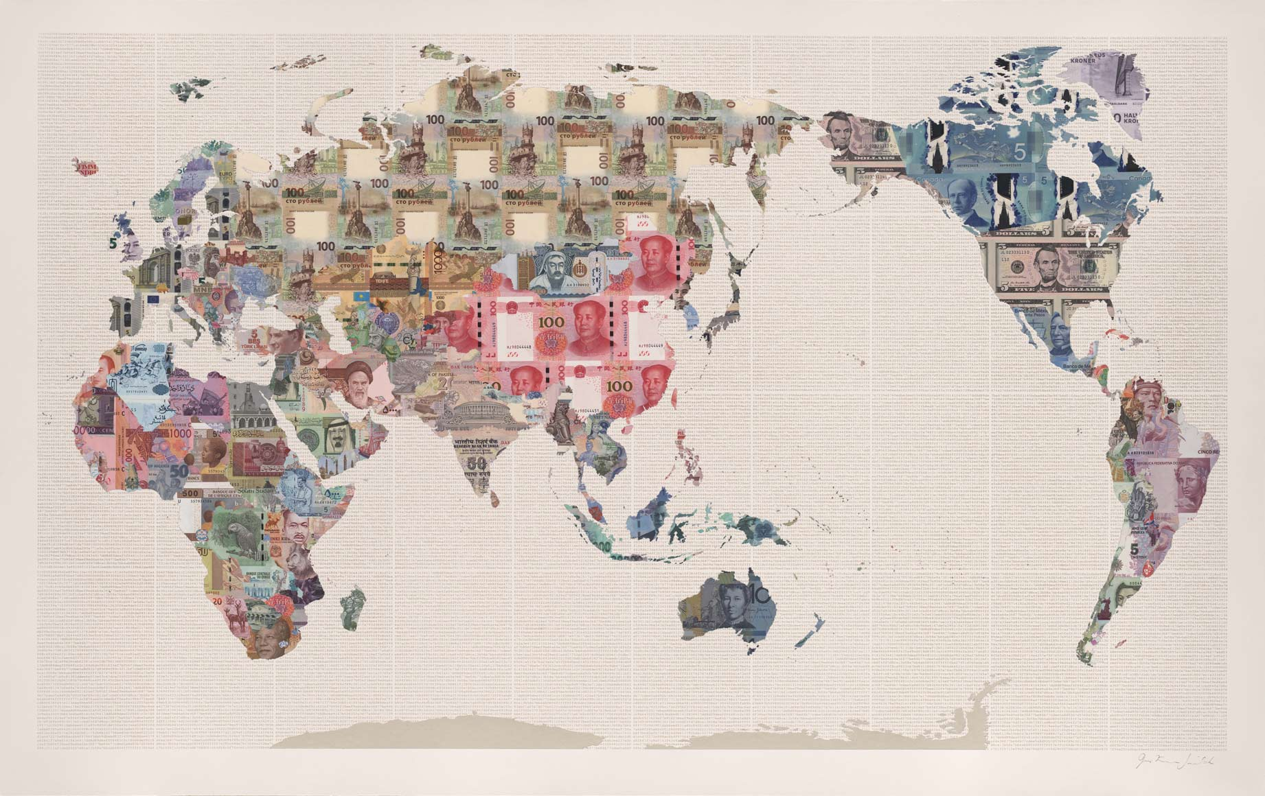 Money maps collage justine smith money map of the world china a money map by justine smith gumiabroncs Images