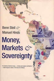 "Cover design for ""Money, Markets and Sovereignty"", by Benn Steil and Manuel Hinds"