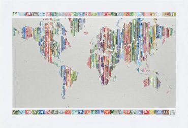 Time is Money - a limited edition money map print by Justine Smith, London