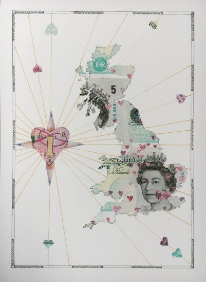 I Heart Art UK Map print.