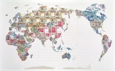 Money maps limited editions justine smith limited edition world map print gumiabroncs Image collections