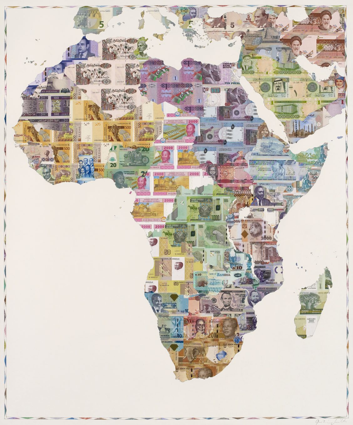 Africa Map 2015 Money Map of Africa 2015 – Justine Smith