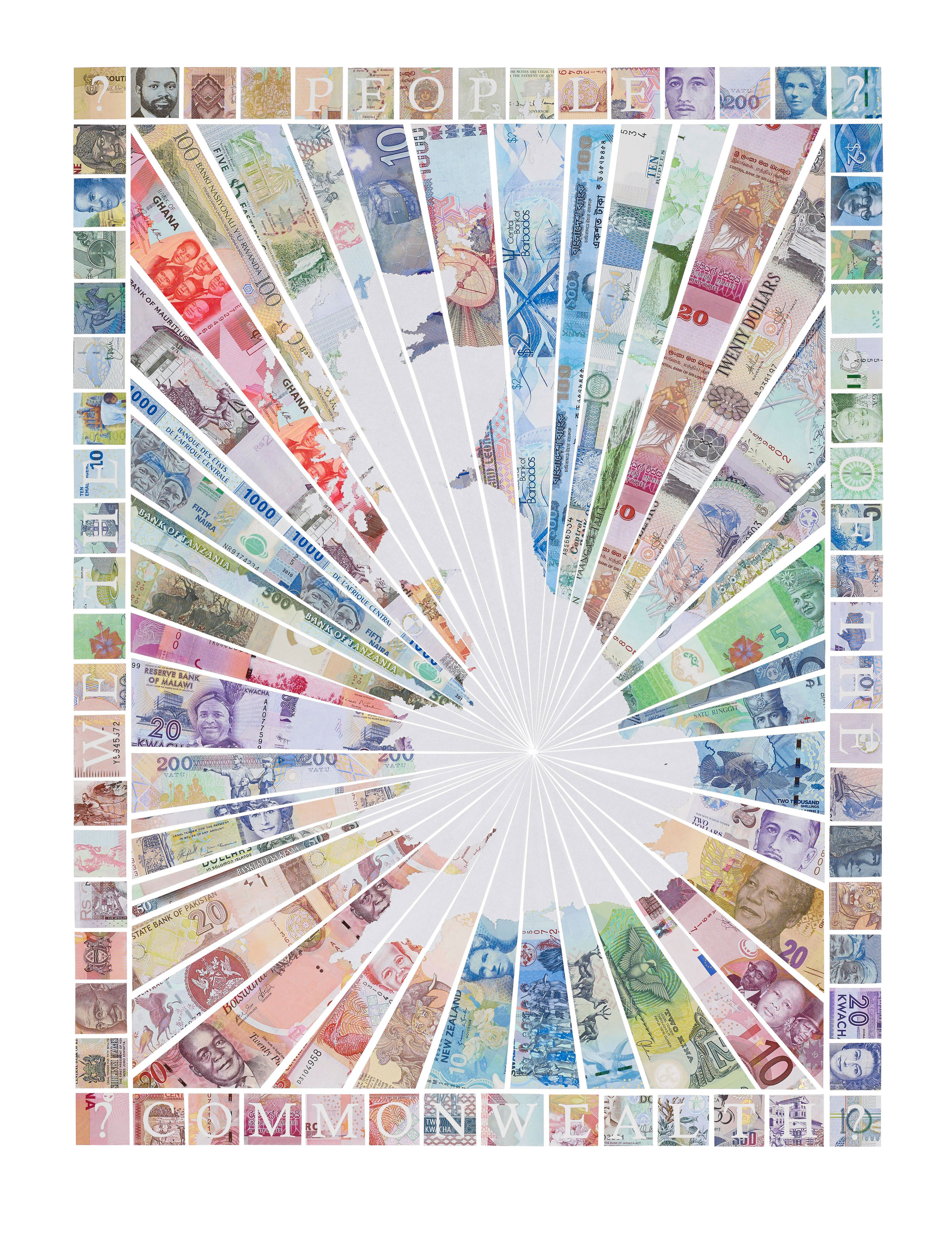 We The People of the Commonwealth - a limited edition money map print by Justine Smith, London
