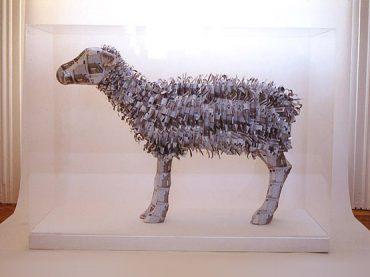 EU Ewe, a money sculpture by Justine Smith, London