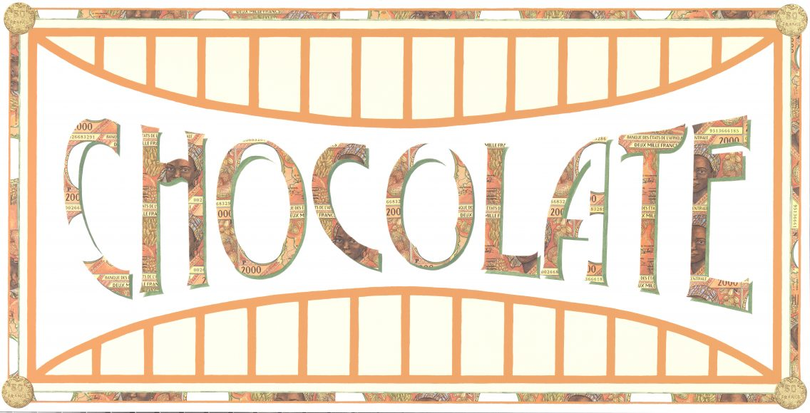 Chocolate Money (V) - a limited edition print by Justine Smith, London