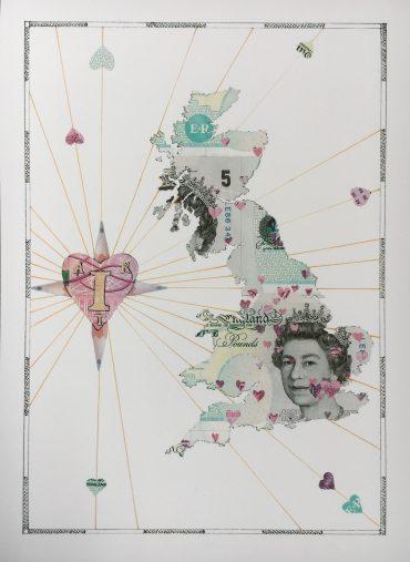 I Heart Art UK Map print.