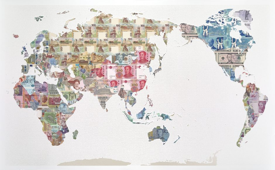 Limited edition world map print