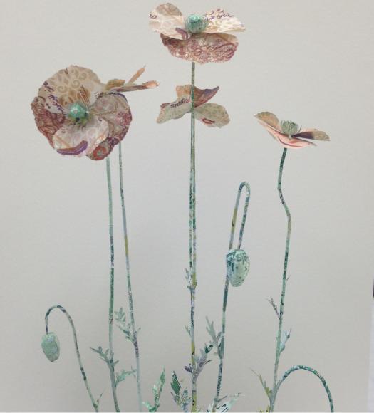 Poppy plant sculpture made with Qatari Riyals