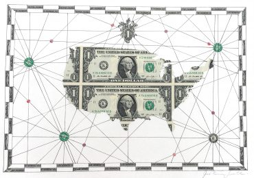 Us Map Photo Collage.Original Money Map Collages Justine Smith
