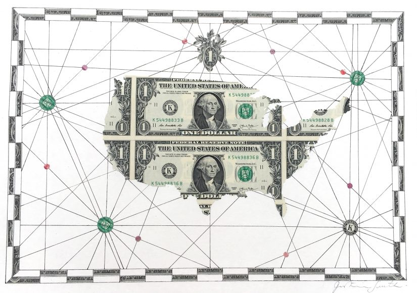 US Dollar Map of The USA