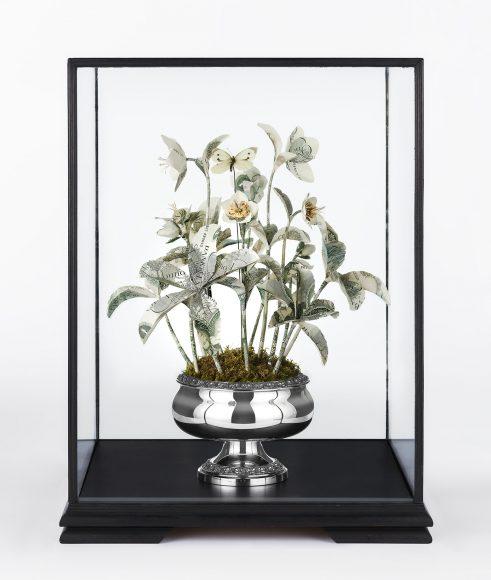Money plant sculpture