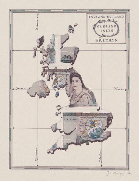money map UK drawing