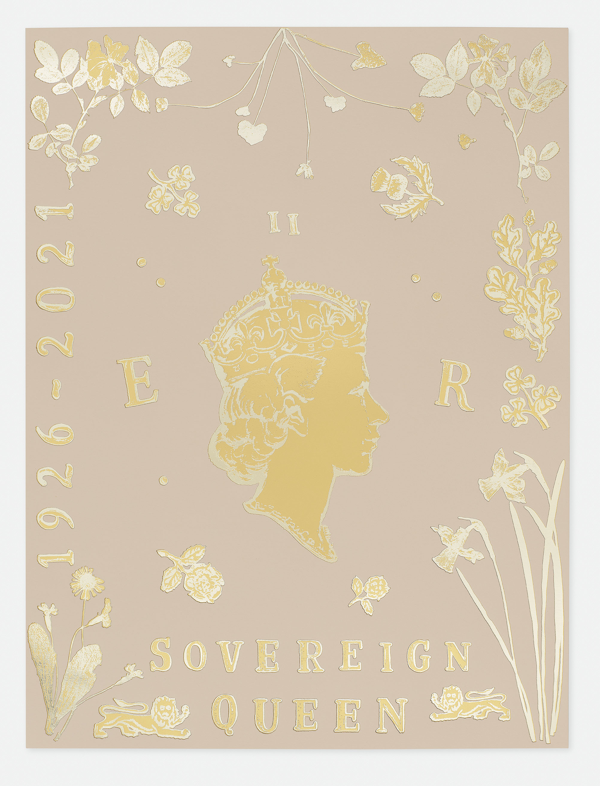 """Commission for The Queen's 95th Birthday Limited Edition Print """"Sovereign Queen""""."""